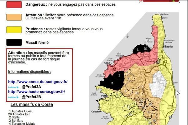 Les massifs du Fango, de Bonifato et des Agriates fermés ce mercredi 26 août.