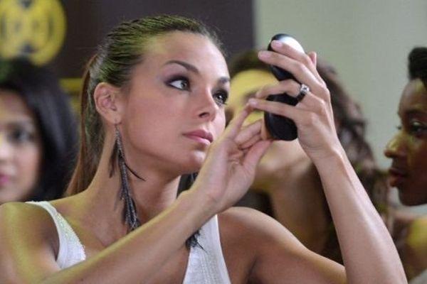Marine Lorphelin pendant le concours de Miss Monde en septembre 2013