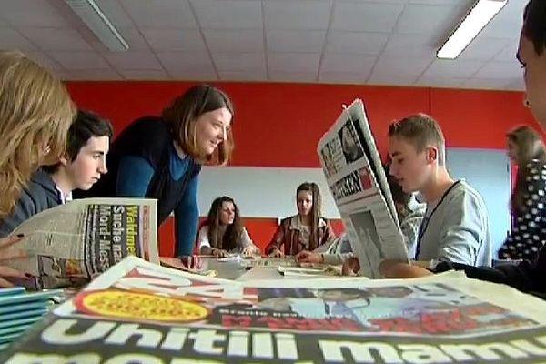 Atelier pédagogique sur l'Europe à partir de la presse