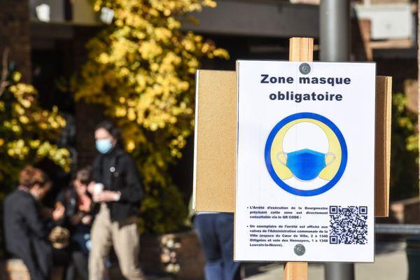 Le port du masque est désormais obligatoire dans le centre ville de la 3e commune du département