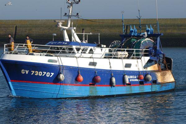 Le Manga Reva, chalutier du Guilvinec, a coulé au large de Penmarc'h ce mardi 13 juillet suite à une collision avec l'Ocarina, un autre bateau du Guilvinec (photo d'archives)