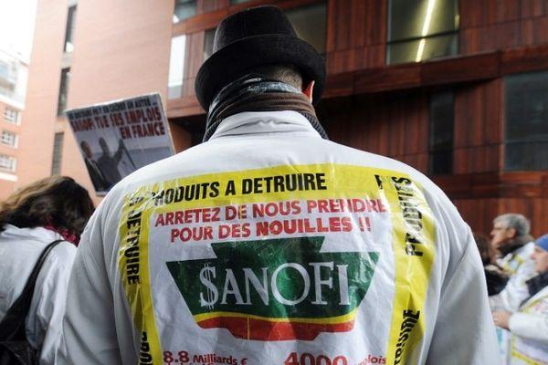 Manifestation des Sanofi à Toulouse le 4 février 2013.