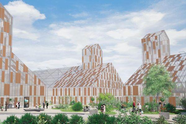 """voici une modélisation de ce projet d'""""agri-quartier"""" à Lucé près de Chartres"""