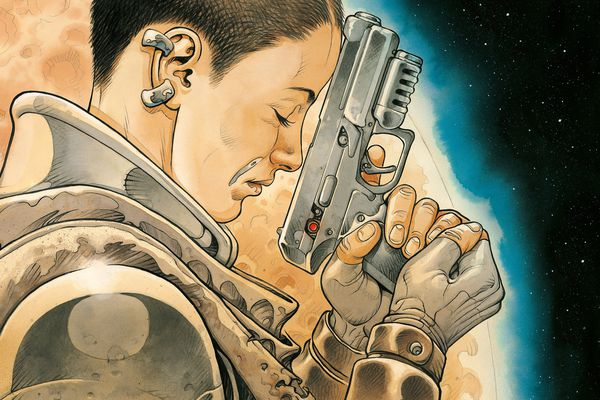 La couverture du tome 3 de la BD On Mars