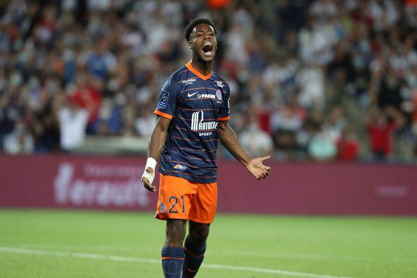Elye Wahi, ici lors du match de Ligue 1 contre l'Olympique de Marseille, le 8 août 2021.