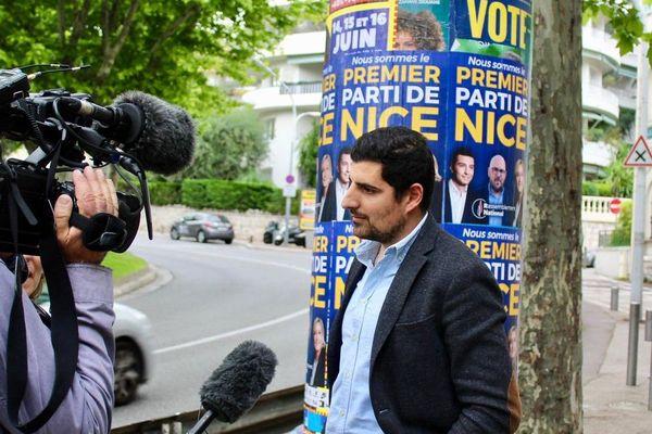 Responsable adjoint du bassin niçois Rassemblement National Philippe Scemama au micro de l'une de nos équipes.