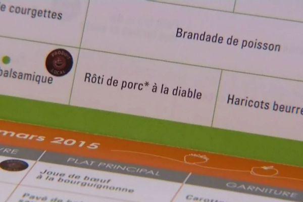 un plat de substitution était proposé au porc, servi dans les cantines scolaires de la ville de Chalon-sur-Sâone