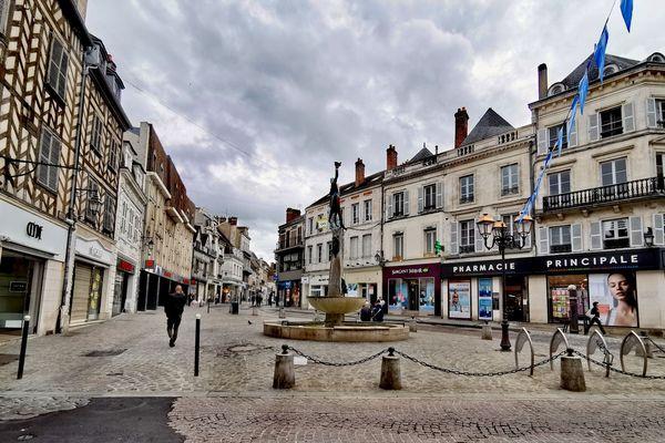 Le centre-ville d'Auxerre (Yonne)