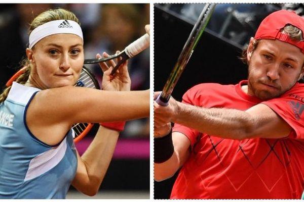 Les Nordistes Kristina Mladenovic et Lucas Pouille.