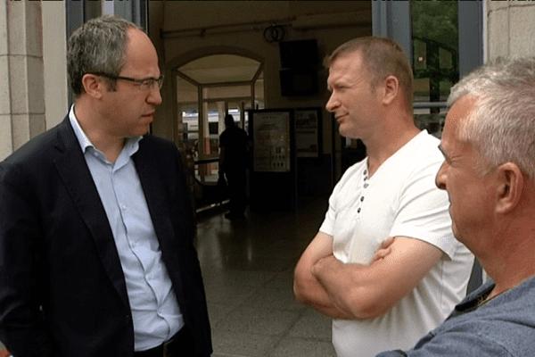 Les deux ex-salariés de Nutréa-Triskalia et leur avocat