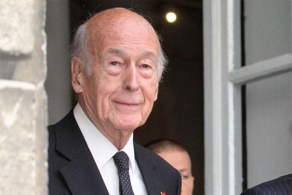L'ancien président de la République et académicien Valéry Giscard d'Estaing dans sa résidence d'Authon, dans le Loir-et-Cher. Photo d'illustration