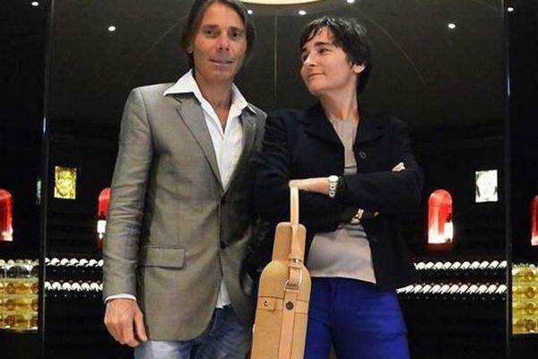 Vincent Poujardieu et Claudia Courtois, designer et inventeur du © BiWine