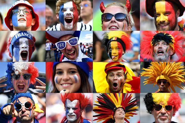 Direct France-Belgique, les supporters des deux camps sont prêts!