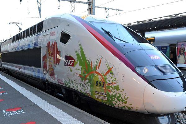 TGV L'Océane qui effectue la liaison Toulouse-Paris