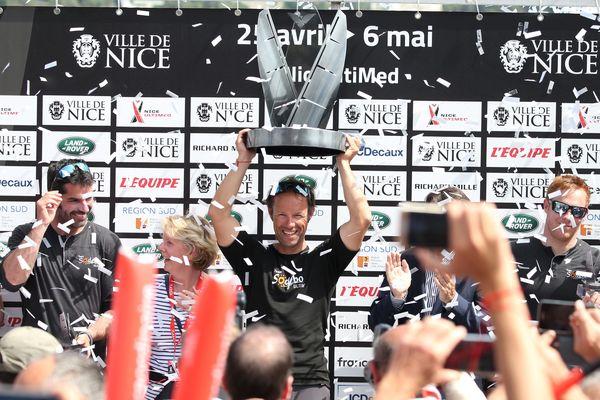 Thomas Coville, et ses équipiers, ont remporté, samedi 5 mai, la 1ère édition de la Nice Ultimed