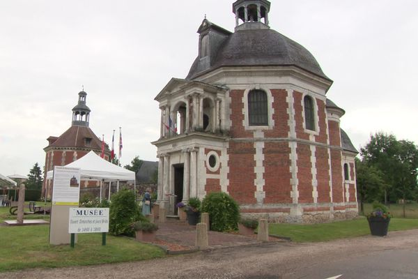 Juillet 2021- Vue extérieure du musée départemental de la Résistance et de la Déportation  à Manneville-sur-Risle (Eure)