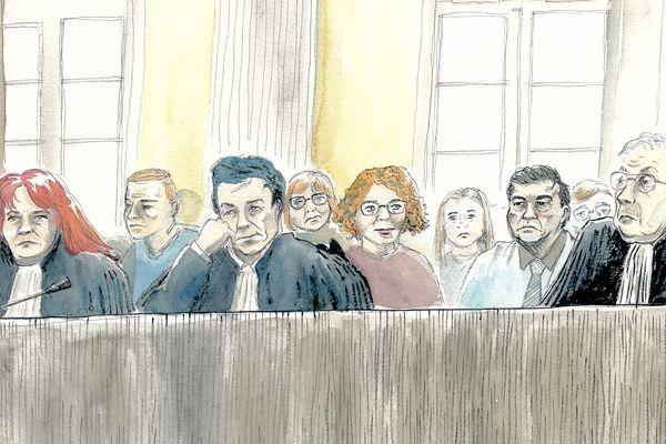 Les parties civiles lors du procès de Willy Bardon dans l'affaire Kulik, le 25/11/2019