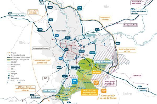 L'élargissement de l'A46 doit permettre de décongestionner un axe saturé.