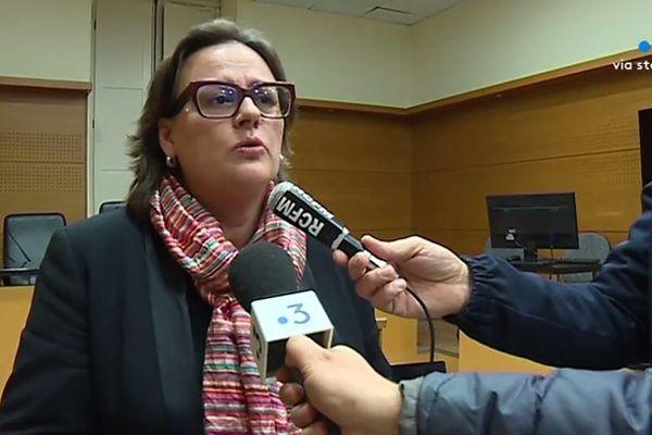 Caroline Tharot, procureure de la république de Bastia, revient sur la fusillade de Bastia du 30 janvier 2019. Mercredi 13 février 2019.