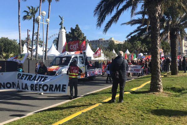 Nice : le cortège des manifestants contre la réforme des retraites.