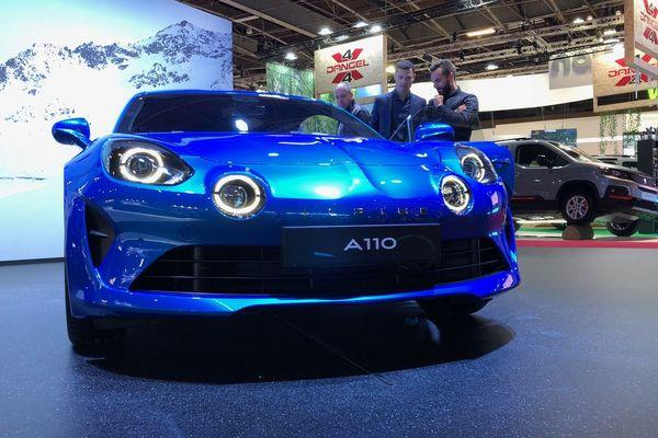 Un des modèles de l'A110 présentés au Paris Motors Show / Mondial de l'auto, porte de Versailles.