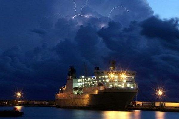 Archive : orage à Bastia.
