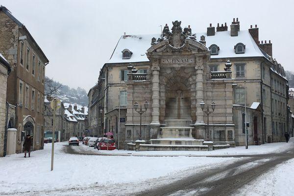 Besançon sous la neige.