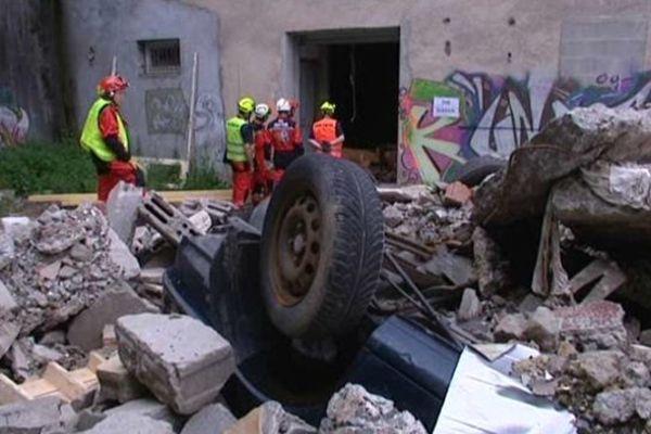 La Souterraine dans la Creuse devenue le temps d'un exercice le Tadjikistan, victime d'un séïsme