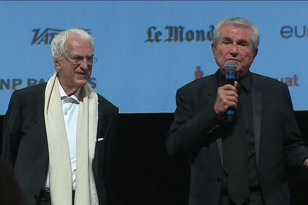 Claude Lelouch aux côtés de Bertrand Tavernier samedi soir au Festival Lumière, à Lyon