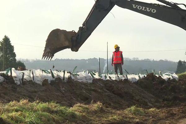 À La Réole, les travaux de consolidation des digues ont déjà commencé, mais la question de leur financement n'est pas encore résolue.