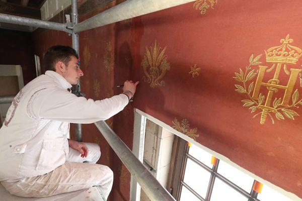 La restauration des tapisseries est en cours