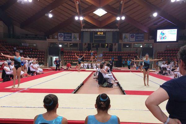 Le championnat se déroule sur trois sites dont le palais de sports de Beaublanc à Limoges où les moins de 14 ans ont évolué au sol ce samedi matin