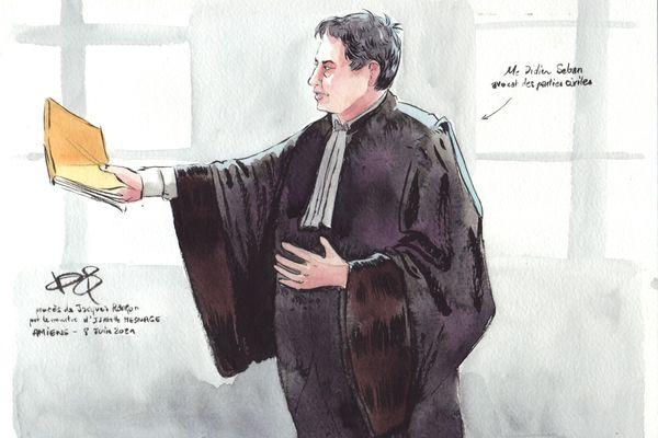 Me Didier Seban, avocat des parties civiles lors du procès de Jacques Rançon devant la cour d'assises de la Somme