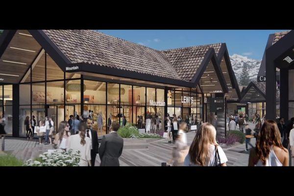 Le futur village de marques de Valserhône.
