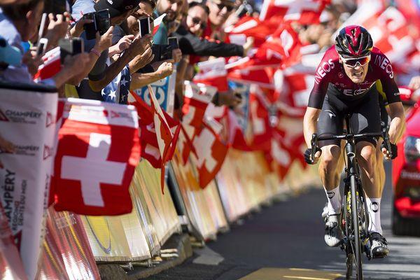 Le coureur néerlandais Dylan van Baarle lors du 71e Critérium du Dauphiné le 16 juin 2019.