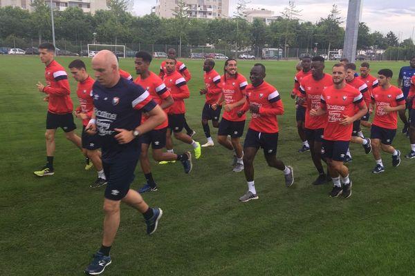 Djiku, Oniangué, Ninga... et même Samba tous les partants sont là pour la reprise de l'entraînement au Stade Malherbe Caen, version Ligue2