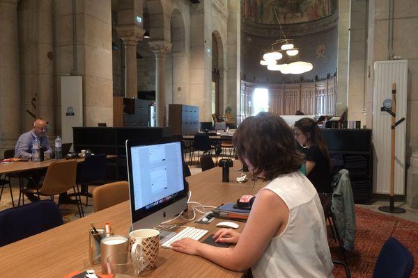 W'iN, espace de coworking à Nantes, le 21 juillet 2020