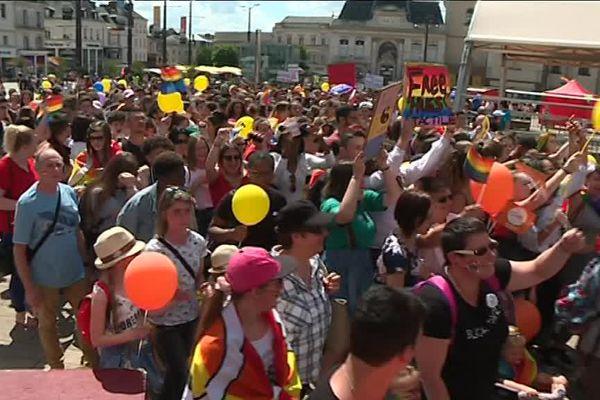 La Marche des fiertés au Mans, le 2 juin 2018