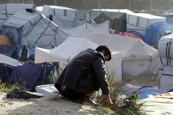 Un réfugié, dans la Jungle de Calais.
