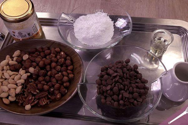 Les ingrédients pour préparer une pâte à tartiner maison