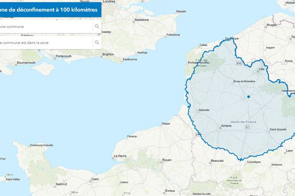 Un cercle de 100 km autour de Lille