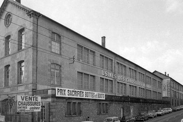 L'usine Heyraud à Limoges où la production de chaussures a cessé en 1984
