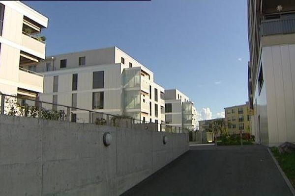 Maillefer, éco-quartier de 233 logements, dernière réalisation de la société coopérative d'habitation de Lausanne.