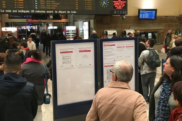 Fortes perturbations en gare de Metz, ce mercredi 29 août à cause des orages.