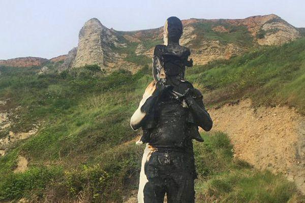 4 mai 2020 : la statue de Fabien Mérelle vandalisée