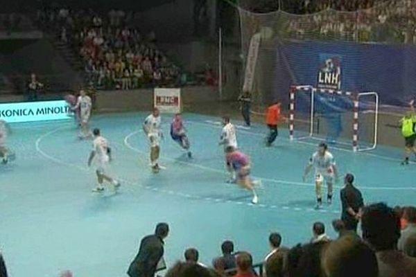 Rencontre de handball - Cesson-Montpellier - 12 mai 2012.
