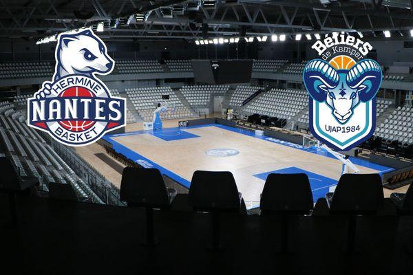Hermine Nantes basket affronte les béliers de Kemper, le 10 novembre 2020 en Leaders Cup