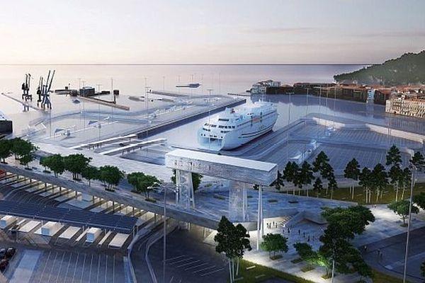 Sète (Hérault) - le projet de gare maritime pour 2020 - janvier 2015.