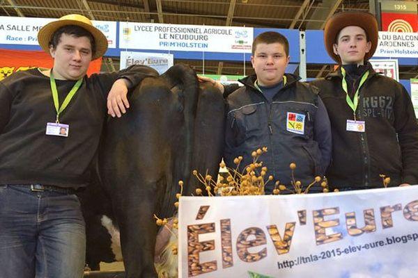 Guillaume, Adrien et Bastien élèves au lycée agricole du Neubourg (Eure)