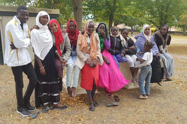 Les nouveaux réfugiés du centre de Pessat-Villeneuve (Puy-de-Dôme), originaires du Tchad et du Niger